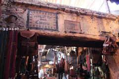 Souq in Marrakech, Marokko Stock Foto's