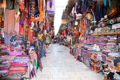 Souq in the Old part of Jerusalem Stock Photos