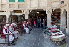 Souq porters in Doha Stock Photos