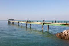 Souq Sharq码头在科威特 库存图片