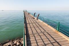 Souq Sharq码头在科威特 免版税库存照片