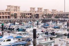Souq Sharq i Marina w Kuwejt mieście Zdjęcia Royalty Free