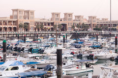 Souq Sharq and Marina in Kuwait City Royalty Free Stock Photos