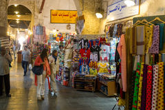 Souq and shoppers Royalty Free Stock Images