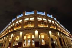 Souq Waqif在晚上。多哈,卡塔尔 库存图片