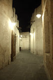 Souq Waqif alla notte. Doha Fotografia Stock Libera da Diritti