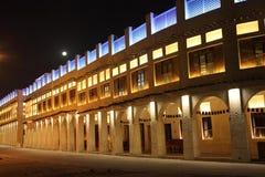 Souq Waqif bij nacht, Doha Stock Afbeelding