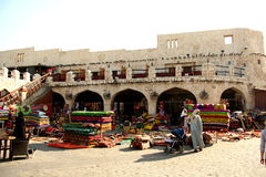 Souq Waqif in Doha, Qatar. Famous Souq Waqif - the main traditional market - in Doha, Qatar Royalty Free Stock Images