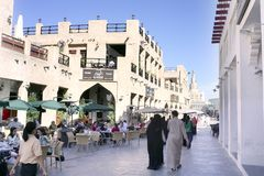 Souq Waqif em Doha Fotos de Stock Royalty Free