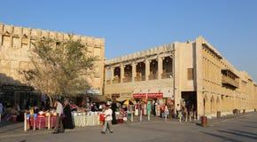 Souq Waqif i Doha, Qatar Fotografering för Bildbyråer