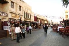 Souq Waqif i Doha, Qatar Arkivbild