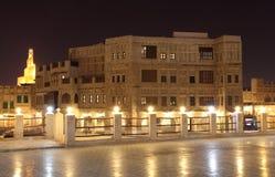 Souq Waqif na noite, Doha Fotos de Stock Royalty Free