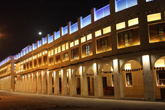 Souq Waqif nachts, Doha Stockbild