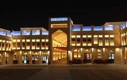 Souq Waqif på natten, Doha Royaltyfri Bild
