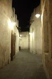 Souq Waqif på natten. Doha Royaltyfri Foto