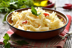 Sour cabbage,traditional dish of russian cuisine. Royalty Free Stock Photo