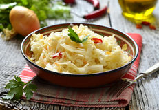 Sour cabbage,traditional dish of russian cuisine. Royalty Free Stock Images
