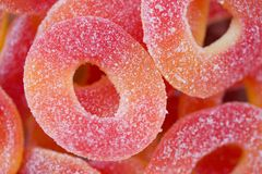 Sour candy. Closeup of kids sour candies royalty free stock image
