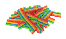 Sour Candy Strips Stacked Royalty Free Stock Image