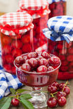 Sour cherries compote Royalty Free Stock Photos