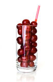 Sour cherries in glass Royalty Free Stock Images