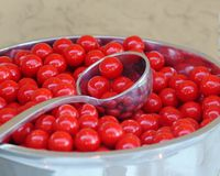 Sour cherry candies Stock Photography