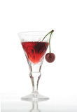 Sour cherry cocktail Stock Images