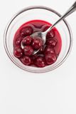 Sour Cherry Compote Stock Images