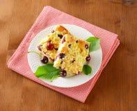 Sour cherry crumb bars Stock Photo