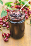 Sour cherry jam Stock Images