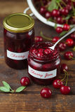 Sour Cherry Jam Royalty Free Stock Photography