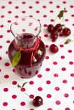 Sour cherry juice Stock Photography
