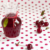 Sour cherry juice Royalty Free Stock Images