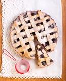 Sour cherry lattice pie Stock Photo