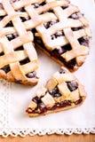 Sour cherry lattice pie Stock Images