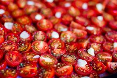 Dried cherry tomatoes. Stock Image