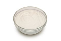 Sour cream - 2. Sour cream in a glass bowl Royalty Free Stock Images