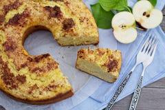 Sour cream apple bundt cake Stock Photos