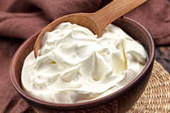 Sour cream stock image