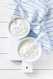 Sour cream Royalty Free Stock Photography