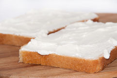 Sour cream on bread Stock Image