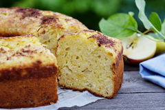 Sour cream cake with apple Royalty Free Stock Photography