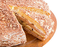 Sour cream cake with prunes Stock Image