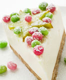 Sour cream cheesecake Stock Photo