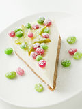 Sour cream cheesecake Royalty Free Stock Photos