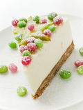 Sour cream cheesecake Royalty Free Stock Photography