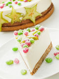 Sour cream cheesecake Royalty Free Stock Images