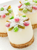 Sour cream cheesecakes Royalty Free Stock Photos
