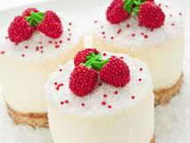 Sour Cream Cheesecakes Stock Photos