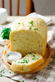 Sour cream chive bread .style rustic Royalty Free Stock Photo